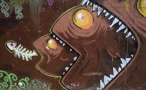 chocholate graffiti fish