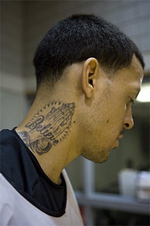 star neck tattoos. 3 star tattoo on neck. tattoo