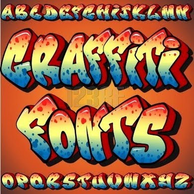 graffiti alphabet letters ABC
