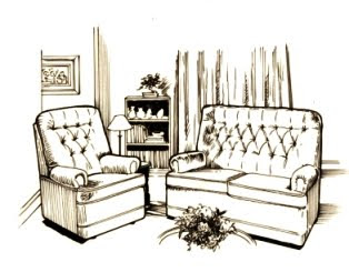 interior design living room drawing