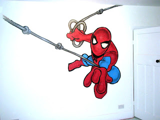 Spiderman Graffiti Design For Kids