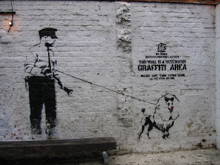 graffiti banksy police art