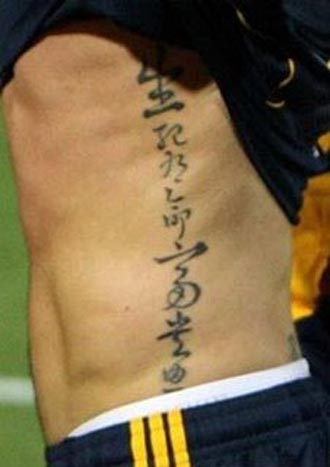 Tattoo fonts style on back and side body for men is very good design. i like