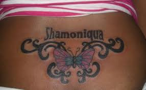 tattoo lettering on back for girls