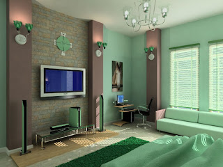 bedroom green style ideas with modern