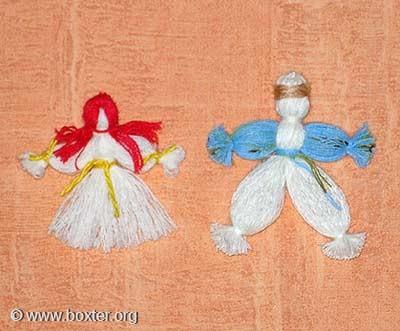 Кукла из ниток своими руками для детей пошаговое фото