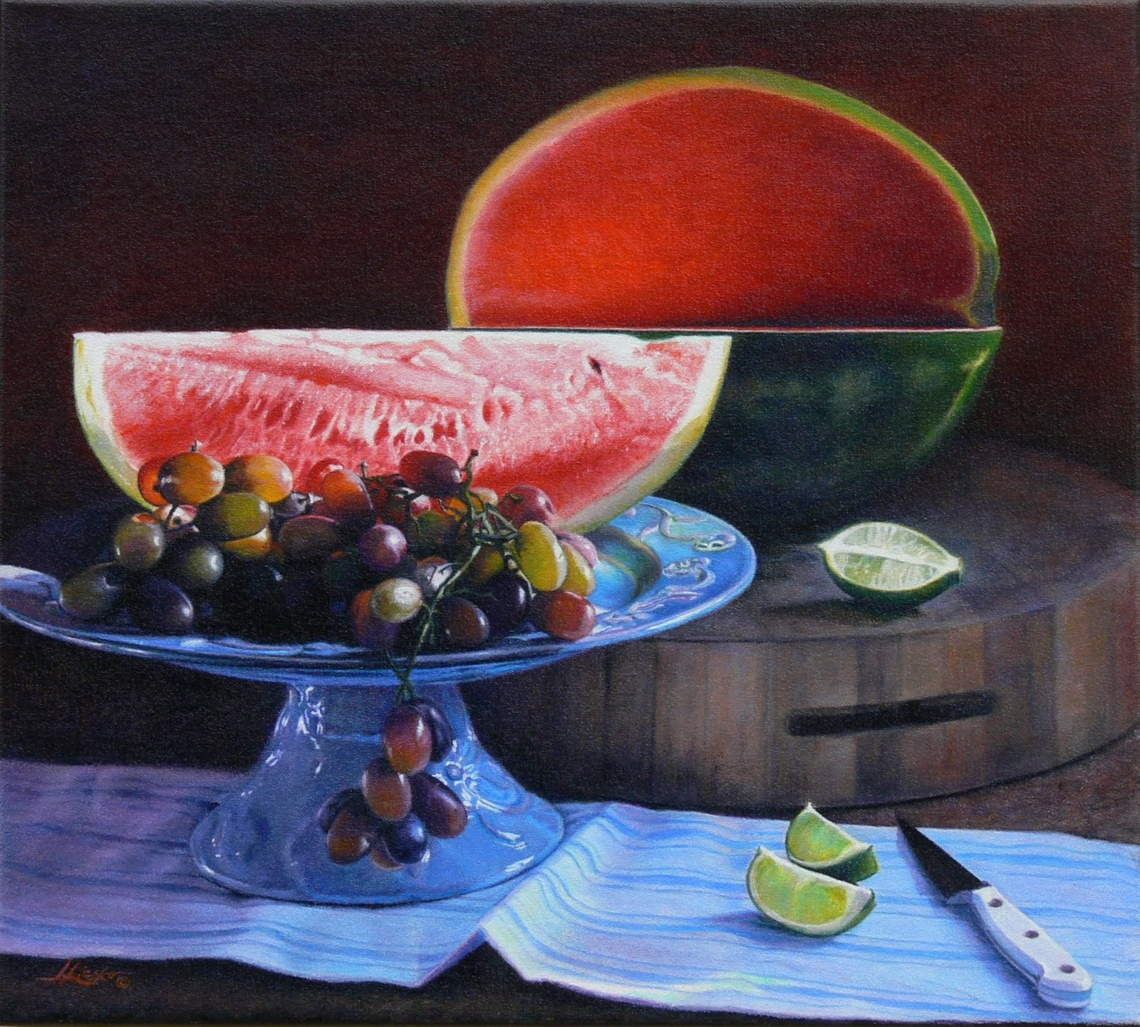 [Watermelon+with+Grapes©+J.Licsko+2010+oil+on+canvas+18]