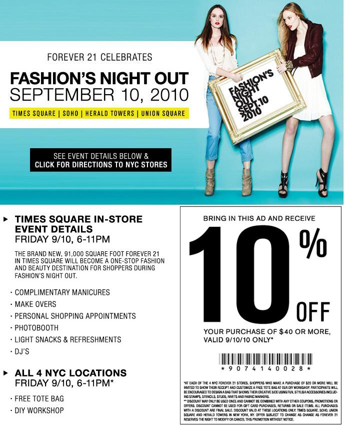 Forever 21 coupon codes 10 off
