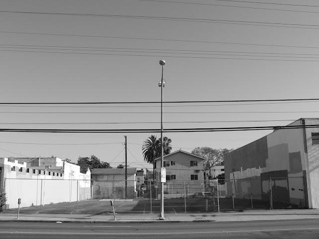 santa monica boulevard parking fence