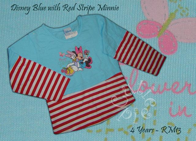 Disney Blue with Red Stripe Minnie