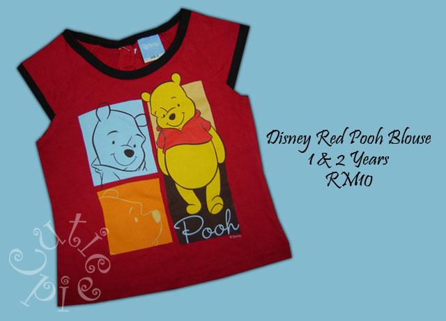 Disney Red Pooh Blouse