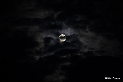 Cloud-covered moon over New Jersey