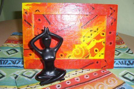 Картинка и рамочка в африканском стиле