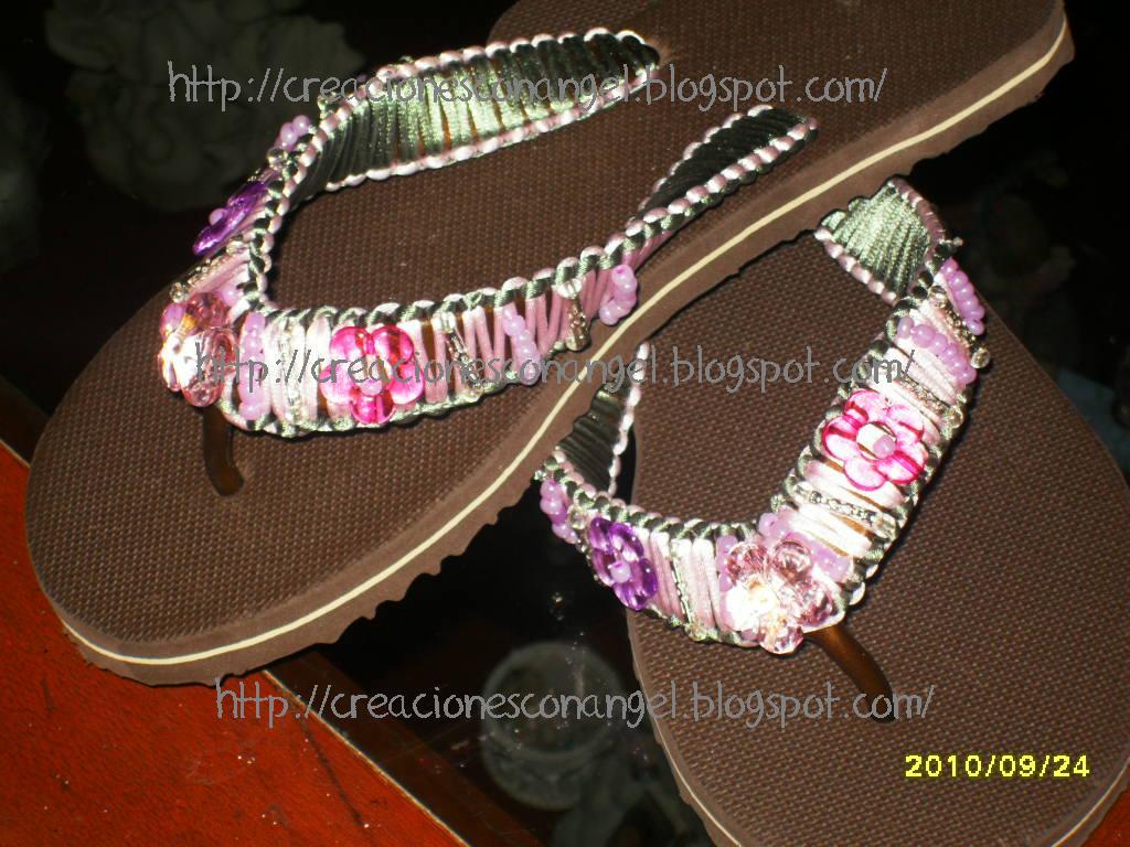 Sandalias de flores