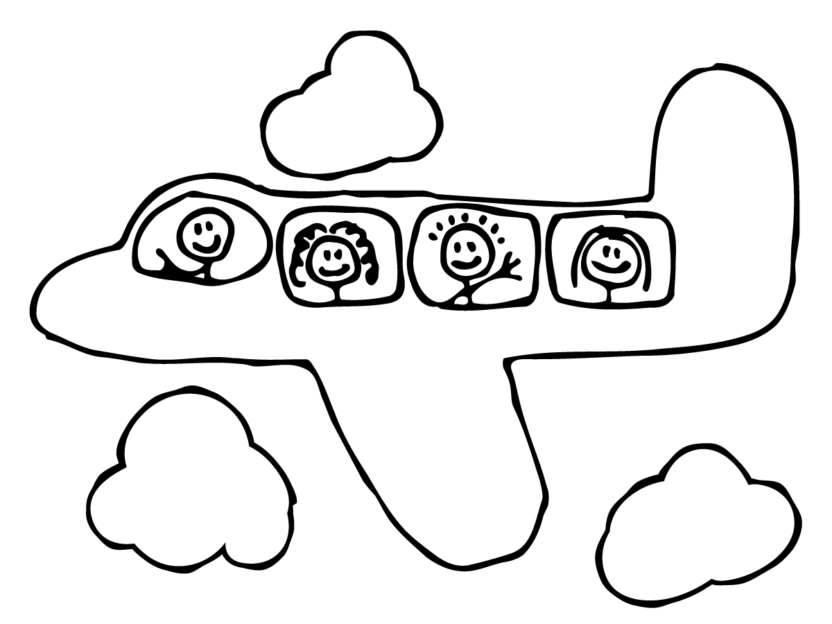 Plane Simple Drawing However Airplane Travel And