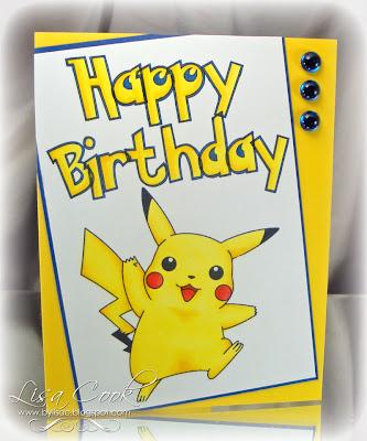 Happy Birthday Pikachu Card