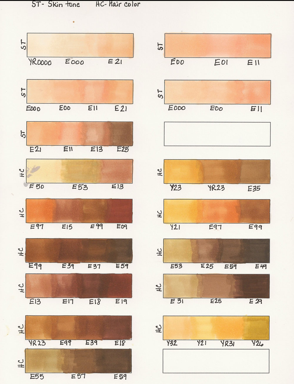 Jewelry About You Color Gallery Of Hair Color Chart Skin Tone