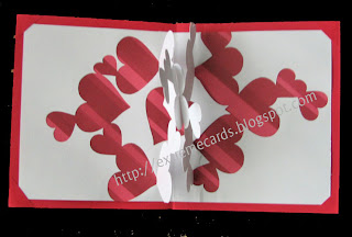 valentine pop up card