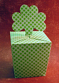 st. patrick's day shamrock box