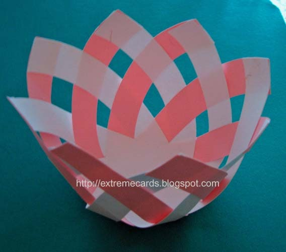 Basket Weaving Using Construction Paper : Extreme cards and papercrafting lotus flower basket