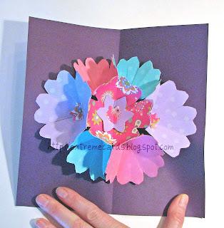 7 flower pop up card