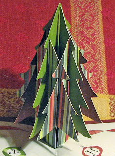 sliceform pop up Christmas tree