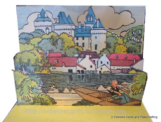 french castle pop up card