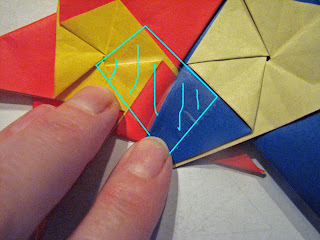 origami star pop up card