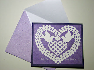 scherenschnitte wedding card