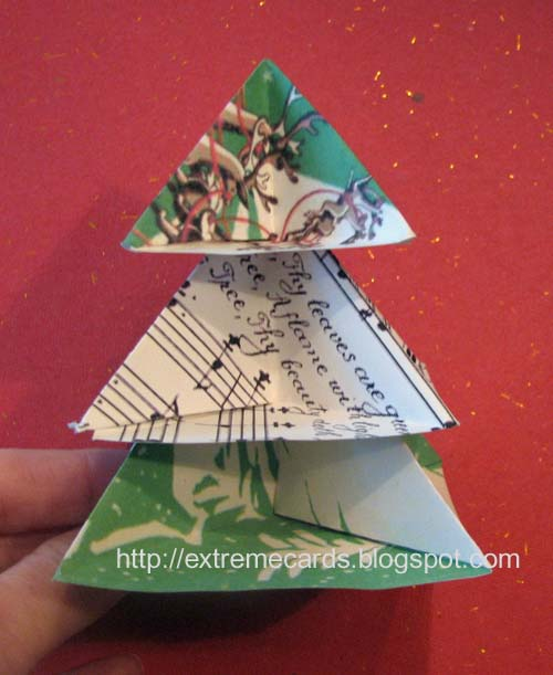 Extreme cards and papercrafting modular origami christmas for How to make folded christmas cards