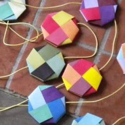 woven paper garland