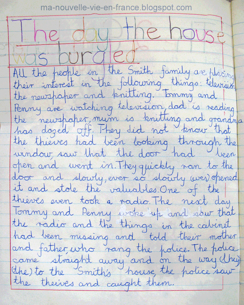 writing a book report primary school