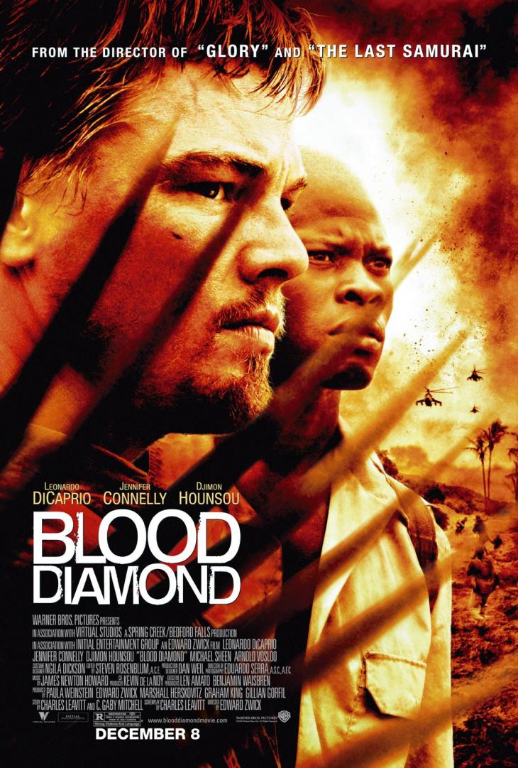 """Blood Diamond"" in 2006 raised awareness the issue of conflict diamonds out of Sierra Leone.  Hezbollah took part in the conflict diamond trade during the country's civil war."