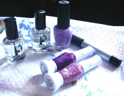 how to do animal print nails. A lilac nail polish (I used