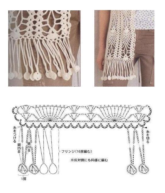 Bonitas bufandas tejidas. Bufandas tejidas a crochet