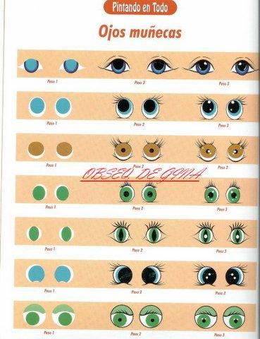 Como hacer ojos para muecos o muecas  cositasconmesh