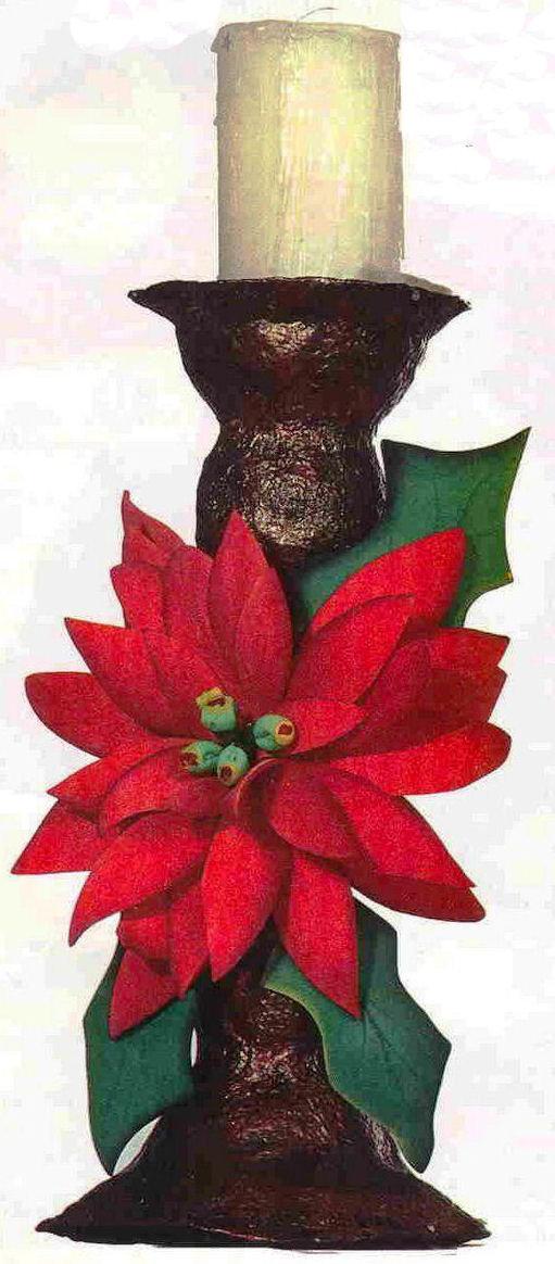 Hagamos una flor de nochebuena o flor de navidad for Adornos con plantas de nochebuena