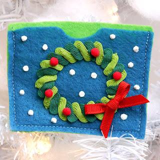 Tarjetas navide as hechas a mano con fieltro cositasconmesh for Coronas de navidad hechas a mano