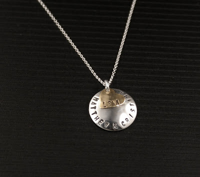 how to make hand stamped jewelry