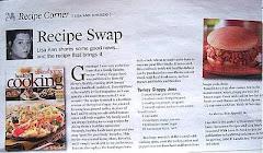 "My Recipe Column in ""The Grapevine Newspaper"""