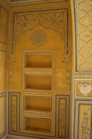 Hand painted wall designs inside Nahargarh palace