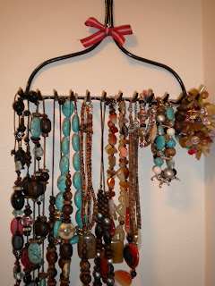 Homemade Necklace Holder