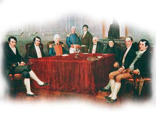 'La 1º Junta de Gobierno', óleo de Francisco Fortuna
