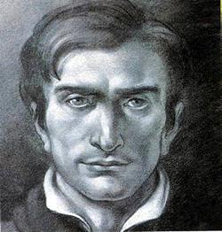 'don José Gervasio Artigas', dibujo sin información de obra ni autor, extraído de juventuduruguayaguiasdelsur.blogspot.com