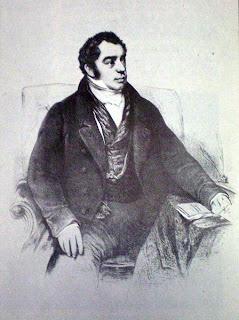 'Bernardino Rivadavia', Litografía de Pelvilain publicada en 'Historia Argentina' de Diego Abad de Santillán,extraído de wikimedia.org<br />