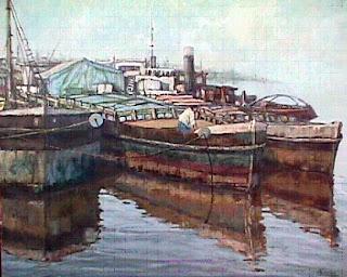 'Puerto de Buenos Aires',acrílico de Marcelo Vascón, extraído de hieloazul.com