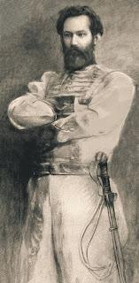'Martín Miguel de Güemes'(1902)Carbonilla realizada por don Eduardo Schiaffino quien reunió a tres nietos de don Martín y tomó la frente de uno, la nariz y boca del otro, y barbilla y orejas del tercero, para aproximarse a la imagen de nuestro héroe gaucho. Esta curiosidad la tomamos de Wikipedia