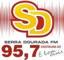 logo da Rádio Serra Dourada de Cristalina