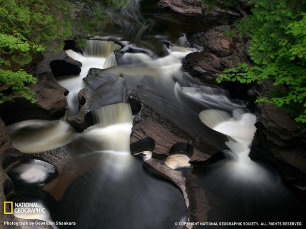 Porcupine Mountains Waterfall