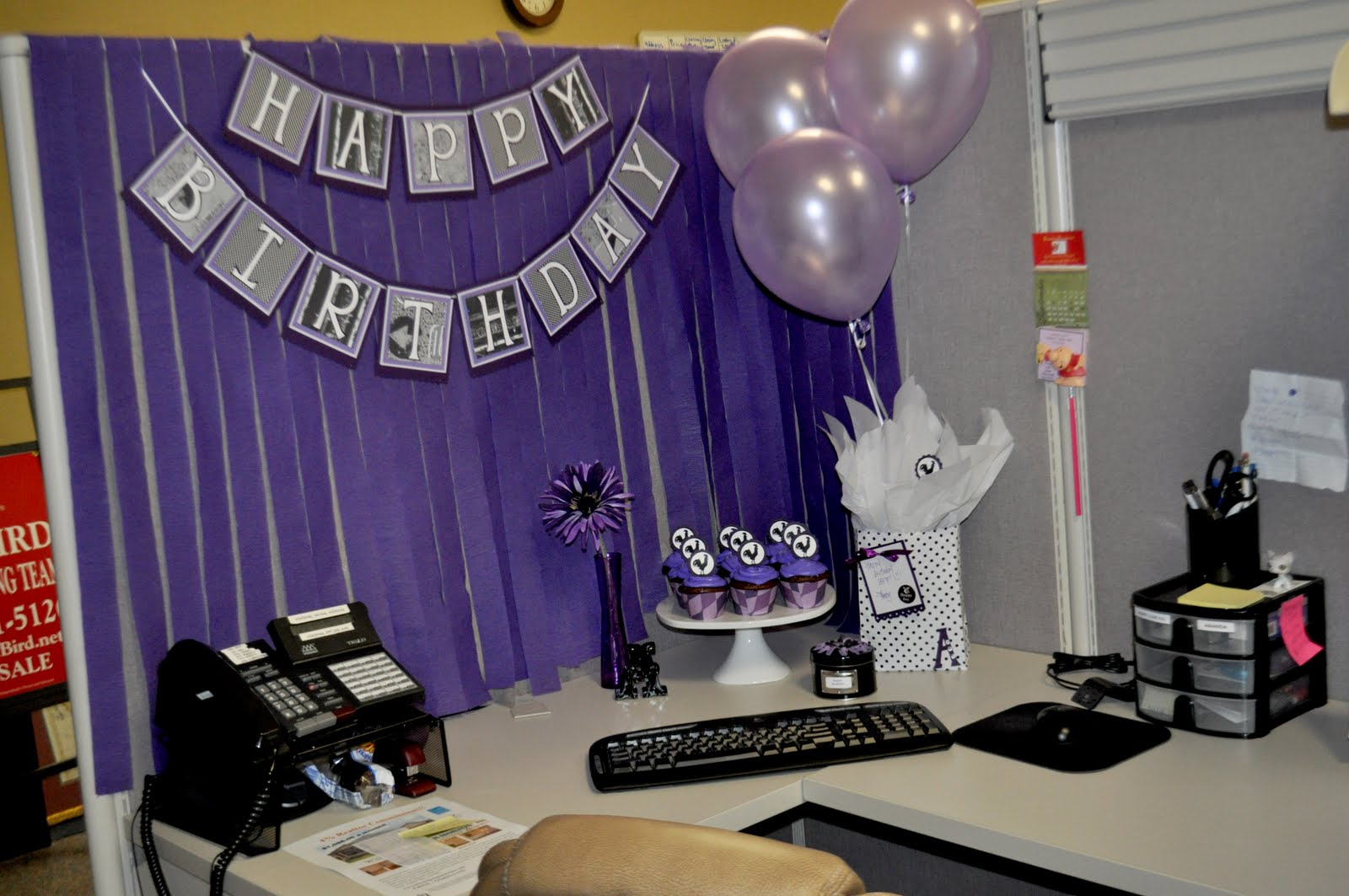 The autocrat mrs rooster 39 s birthday for How to decorate my desk at work